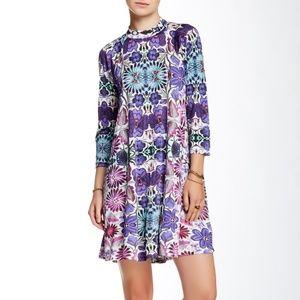 Free People Fiesta floral print long sleeve dress
